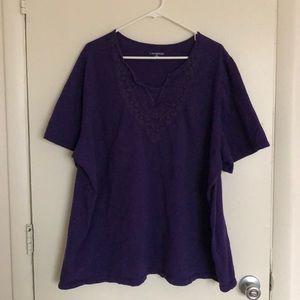 Catherine's Purple Short sleeve Tee